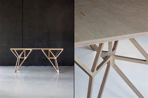 plywood design work desk 187 retail design blog