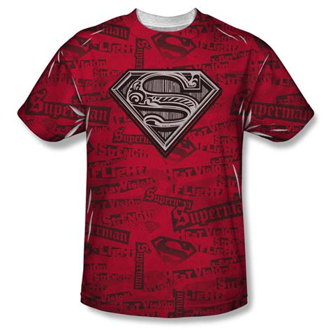 Tshirt Superheroes 22 From Ordinal Apparel superman front sublimation t shirt powers mens white