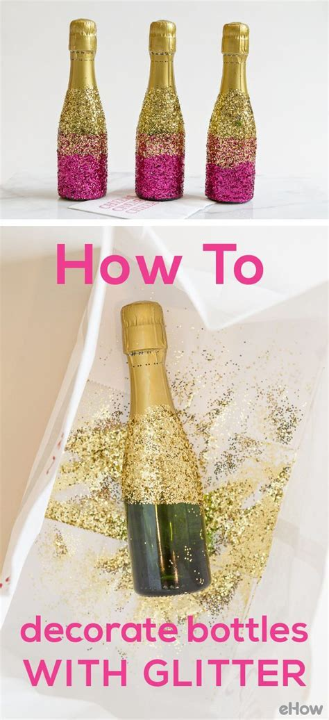 25  best ideas about Glitter champagne bottles on