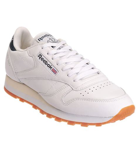 reebok cl lthr lp white sports shoes price in india buy