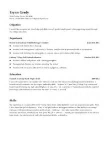 high school resume includes volunteer experience