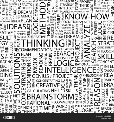 thought pattern en francais thinking seamless vector pattern with word cloud