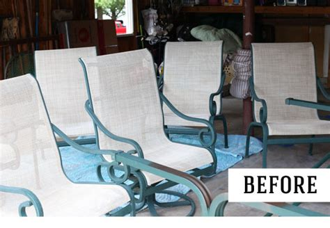 how to paint patio furniture how to paint metal furniture for outdoors refurbish