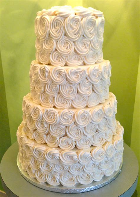 Rosette Wedding Cake Cl Y Cupcakes