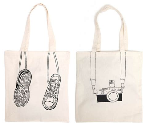 Totebag Tote Sumbu one and the same black white sketch converse and