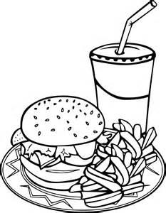 coloriage burger 224 imprimer sur coloriages info