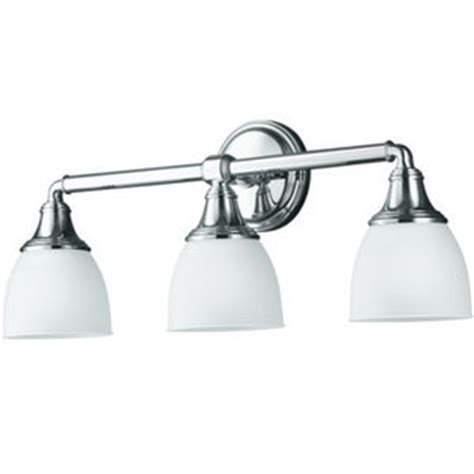 kohler bathroom lighting k10572 cp devonshire 3 bulb bathroom lighting polished