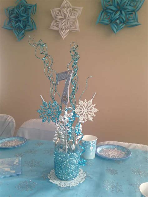 frozen table centerpieces frozen disney birthday ideas jar