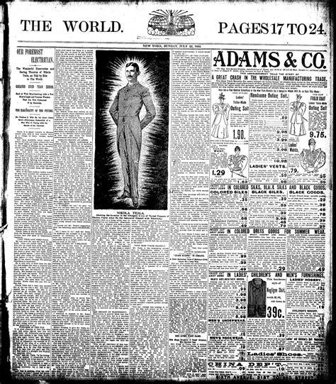 Nikola Tesla Article Nikola Tesla An With Tesla At Delmonico S In