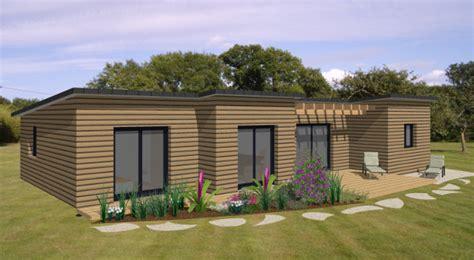Plan Maison Plain Pied 50m2 Maison Ossature Bois Projet becokit gamme de maisons chalets en ossature bois