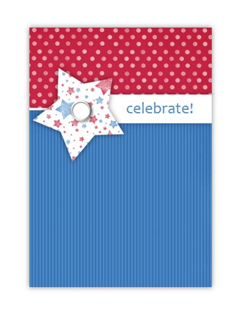 4th of july templates free printable invitations of 4th of july