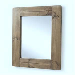 bathroom mirror wood frame chunky old wood framed mirrors by horsfall wright notonthehighstreet com