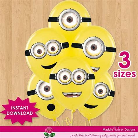 printable stickers minions despicable me instant download for party favors minion