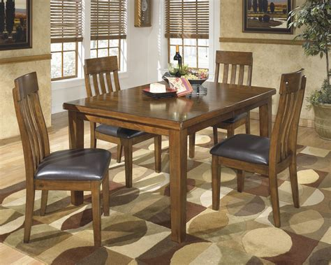 signature design  ashley ralene casual  piece dining set  butterfly extension leaf