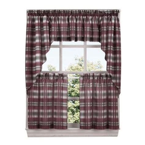green plaid kitchen curtains lichtenberg sage green dawson microfiber plaid kitchen
