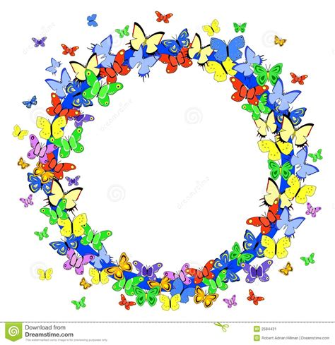 butterfly border line clipart 34
