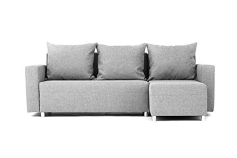 Sofa With Bed Underneath by Oslo Corner Sofa Bed With Underneath Storage In Grey Linen
