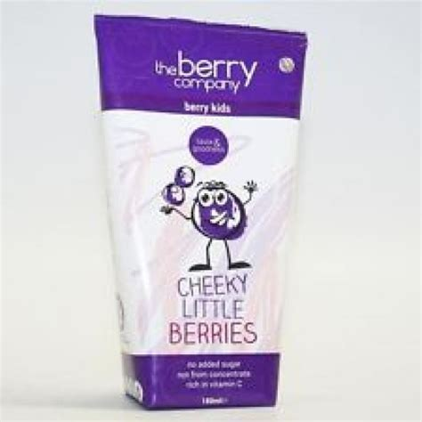 little berry the berry company cheeky little berries kids 180ml x 4