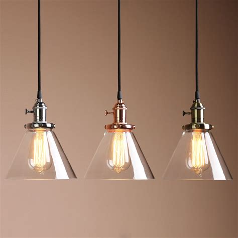pendant lights bar vintage copper industrial cafe bar glass metal pendant
