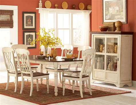 Country Dining Room Table Sets Homelegance Ohana White Dining Collection 1393w Din Set Homelement