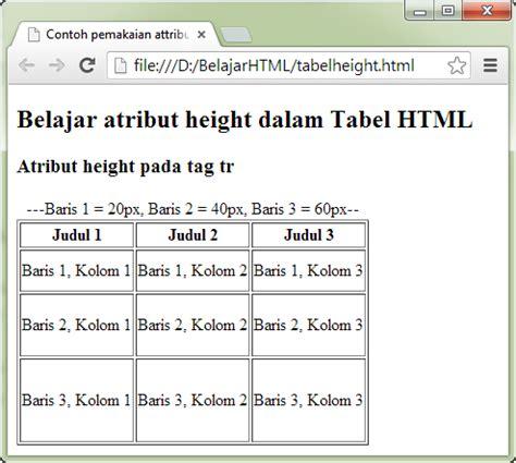 model tutorial adalah tutorial tabel html contoh cara merubah dan mengatur