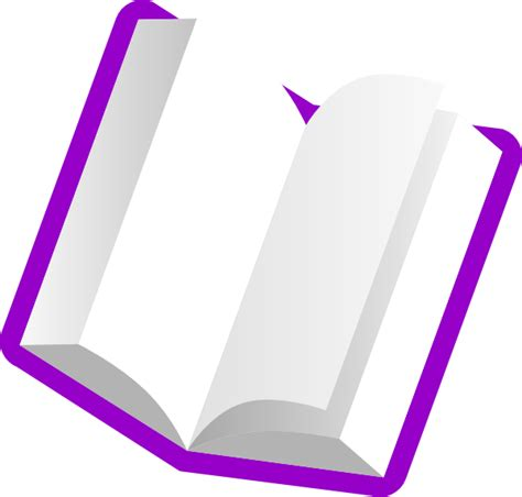 the color purple book how many pages purple book light pages clip at clker vector