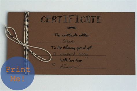 Hand Made Gift Cards - homemade gift certificate template it resume cover letter sle