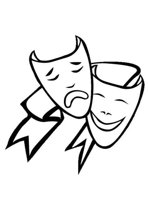 Theatre Masks Coloring Pages