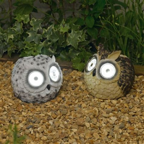 Owl Patio Lights Solar Powered Owl Garden Lights