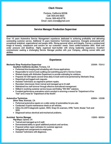 how to write a tech resume writing a concise auto technician resume