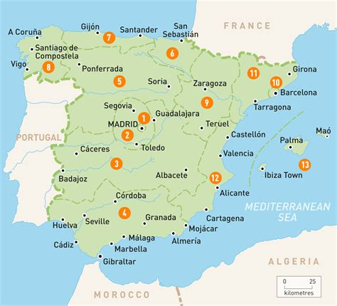Find In Spain Map Of Spain Spain Regions Guides