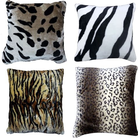 Animal Print Covers by New Faux Fur Animal Print Cushion Covers So Soft Cuddly