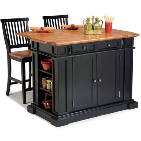 kitchen island table storage cabinets 2 bar stool wood