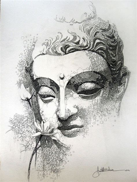buddha sketch mahua art gallery