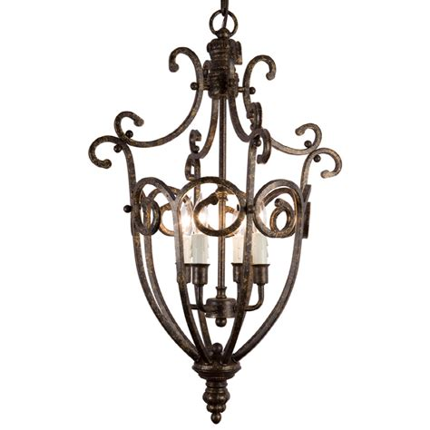 Shop Portfolio 4 Light Chandelier At Lowes Com Lowes Chandelier Lighting
