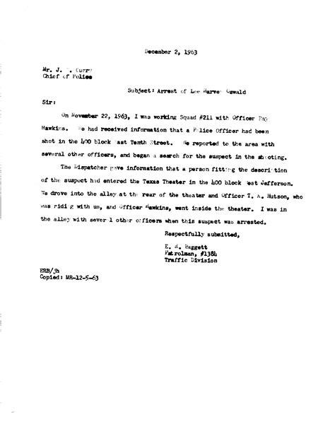 Harvey Oswald Criminal Record Jfk Assassination Records