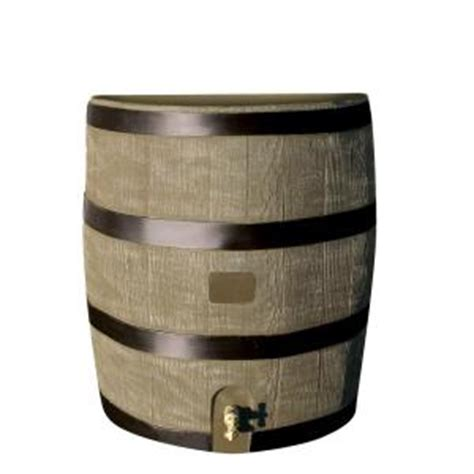 rts home accents 35 gal barrel with deco