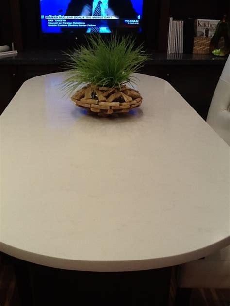 pompeii quartz vanilla ice kitchen countertops  metro  umi united materials