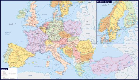 picture of map of europe maps of europe map of europe in political