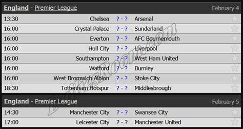 epl schedule 2017 english premier league fixtures schedule 2016 2017 epl