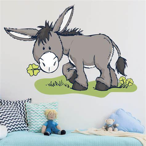 Wandtattoo Kinderzimmer Esel by Wandtattoo Nici Nici Esel Mit Klee