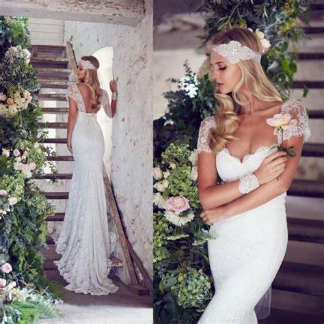 Garden Dresses 2015 Stunning 2015 Lace Scoop Wedding Dresses Garden Sweetheart