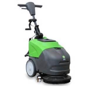 battery powered compact floor scrubber