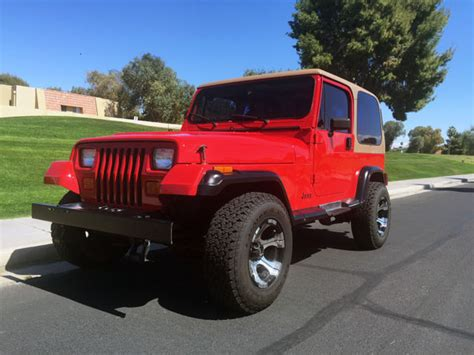 how does a cars engine work 1992 jeep comanche interior lighting 1992 jeep wrangler 4x4 super clean fire engine red 4 cyl 5speed 4x4 classic jeep