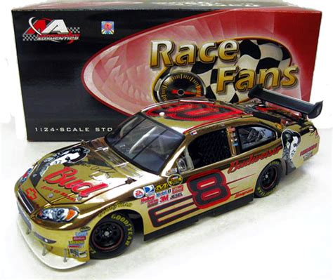 Special Diecast Nascar Chevy Rock N Roll Program Car 2004 Monte Carlo 2007 dale earnhardt jr 8 budweiser elvis 30th gold chrome diecast