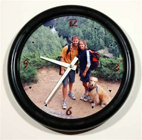 personalized photo wall clocks