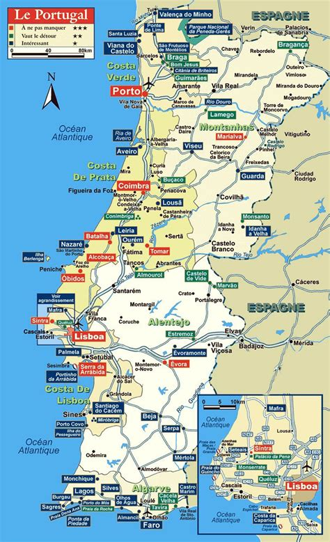 printable road map of portugal portugal maps printable maps of portugal for download
