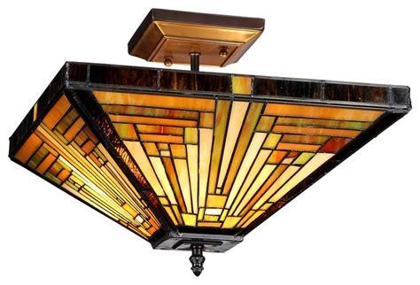 Craftsman Ceiling Light Ch33359mr14 Uf2 Semi Flush Ceiling Fixture Craftsman Flush Mount Ceiling Lighting By