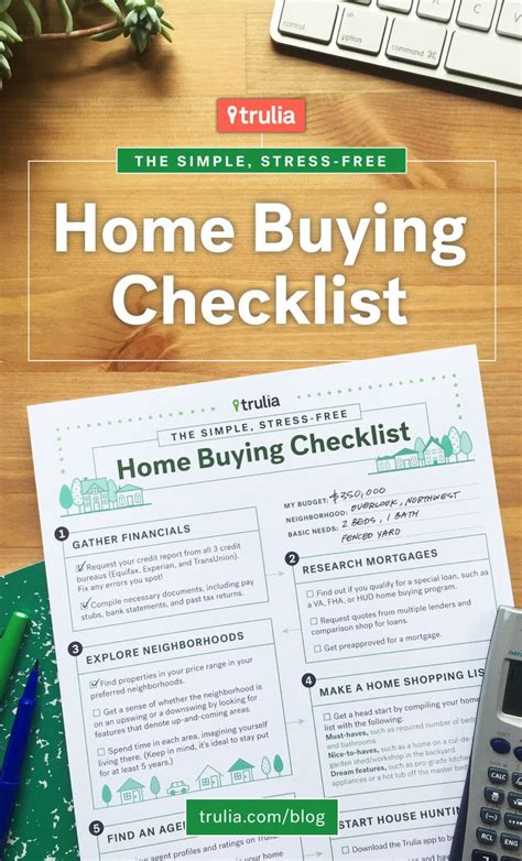 printable house buying checklist trulia s home buying checklist trulia s blog real
