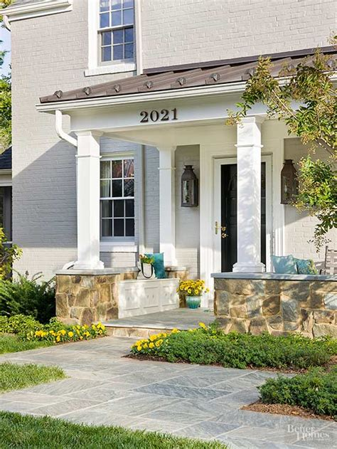 2 Floor House by Small Front Porch Ideas